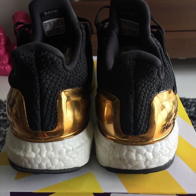 CHEAPEST. Ultra Boost Olympic Gold Pack Royal blue Rare US