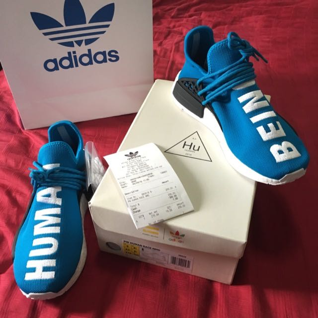 edf9666584d61 US9 UK8.5 Adidas Pharrell Williams Human Race NMD Blue