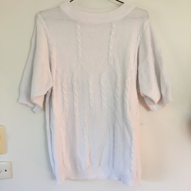 Vintage white knit shirt
