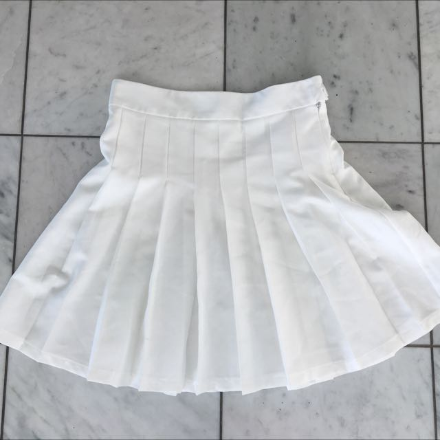 White Tennis Skirt Size 8