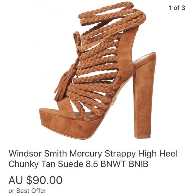 Windsor Smith Mercury Heels 8.5