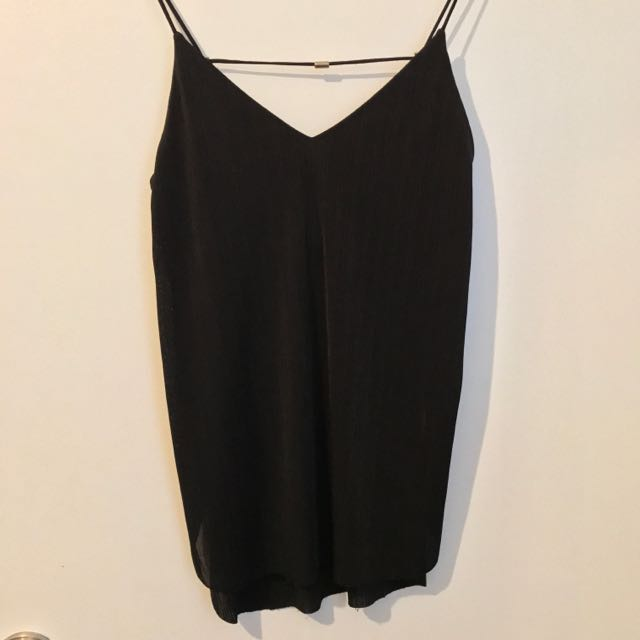 Zara Spaghetti Top With Side Slit - Small