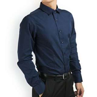 PROMOTION! Navy Blue Shirt For Prom Night