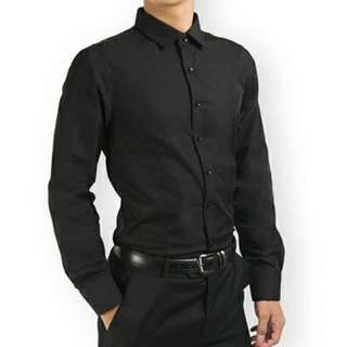 PROMOTION! Black Shirt For Prom Night