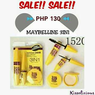 MAYBELLINE 3IN1 SET