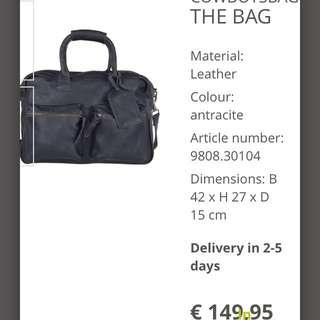 cow boys bag the leather good handtassen black