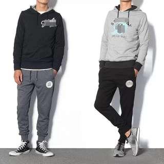 一件兩款 正反2面穿 黑面灰反 純棉有帽衛衣