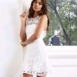 Kookai White Lace Juliette Dress Size 38