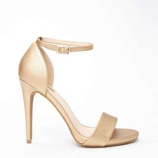 F21 Metallic Gold Shoes