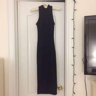 Turtle Neck Long Bodycon Dress