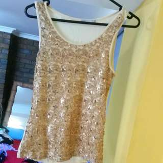 Gold Sequin Singlet