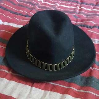 Black Wide Rim Aldo Hat (One Size)