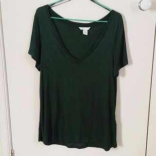H&M Basic Forest Green T-shirt