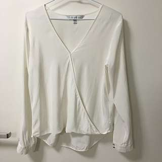 Forevernew 100%silk White Blouse Top