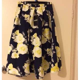 Midi Flower Skirt