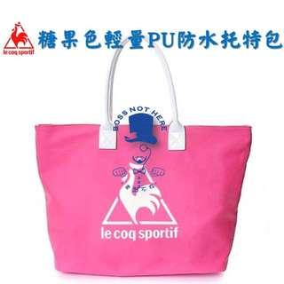 老闆不在👊 公雞托特包 韓國標 Le coq sportif 防水pu簡約托特包肩背包手提包購物袋