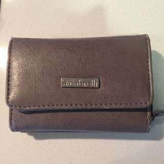 brown leather mini wallet