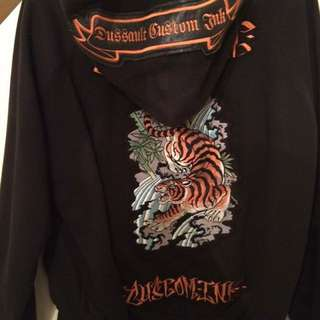 Dussault Custom Ink Zip Sweater
