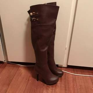 Brand New Over The Knee Boots Faux Leather