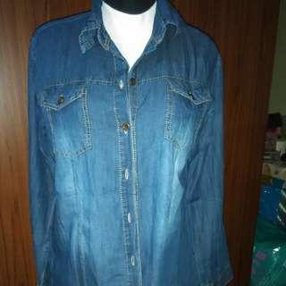 Kemeja Jeans Second