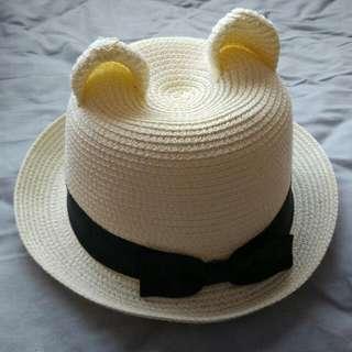 Bear Ears Straw Hat