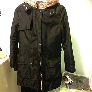 Winter Faux Fur Parkas Size 6 Jacket