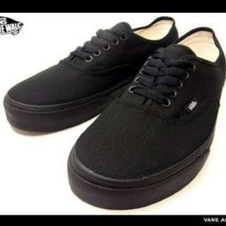 Brand New Full Black Authentic Vans