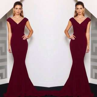 Jadore 'Sienna' Burgundy Formal Dress