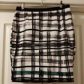 Postman's Black, White & Aqua Skirt