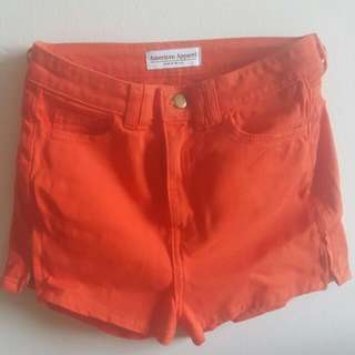 Red/ orange High Waisted Shorts