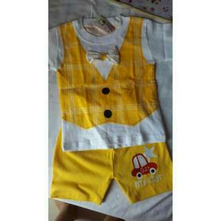 BAJU SET YELLOW TIE