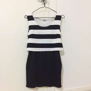 B/W ONE PIECE DRESS (FROM JAPAN)