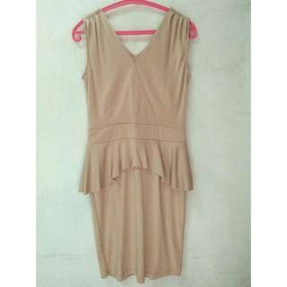 Peplum Dress Pinkemma