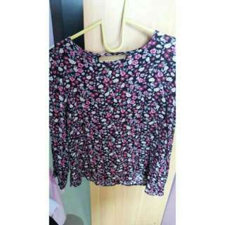 LONG BLOUSE FLOWER H#M