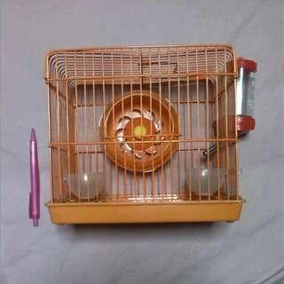 Orange Hamster Cage