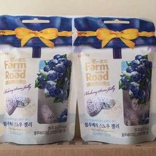 LOTTE 田園軟糖—藍莓口味(39g). 原價一包45元 特價一包35元