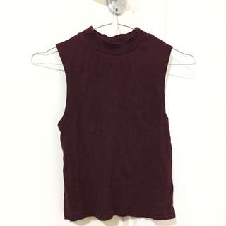 TOPSHOP RED VEST TOP
