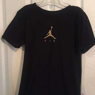 Air Jordan Gold And Black Tee