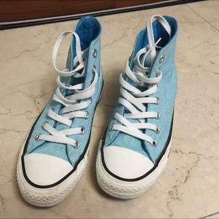 Converse 高筒 水藍