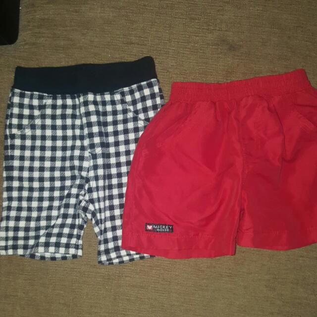 2 Shorts - Mickey Mouse And SM - 3 TO 9 Months