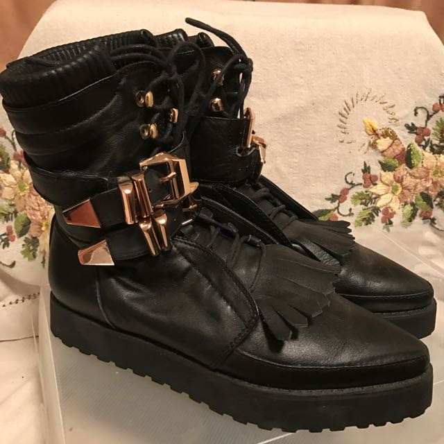 As New Alexander Wang Leather Boots