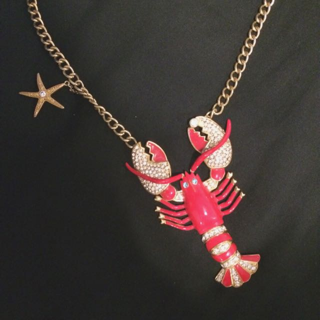Betsey Johnson Lobster Necklace