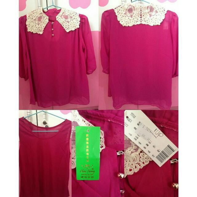 Blouse Pink+Include Tanktop