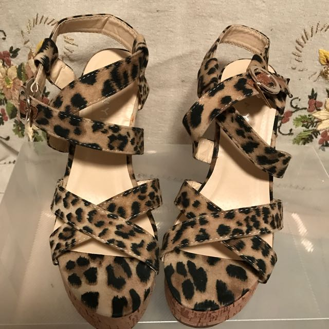 Brand New Leopard Print Wedges