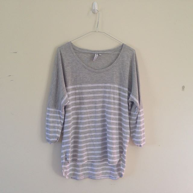 Cotton On White and Grey Shirt