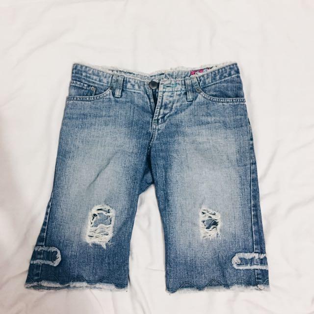 Crissa Denim Knee Shorts