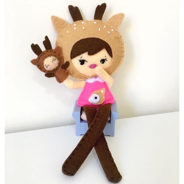 Deer Girl Felt Doll
