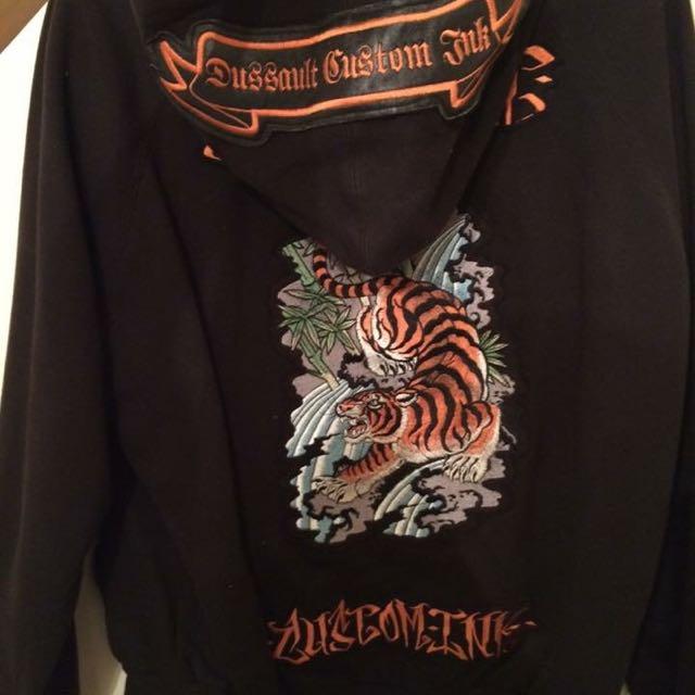 Dussault Custom Ink Zip Sweater