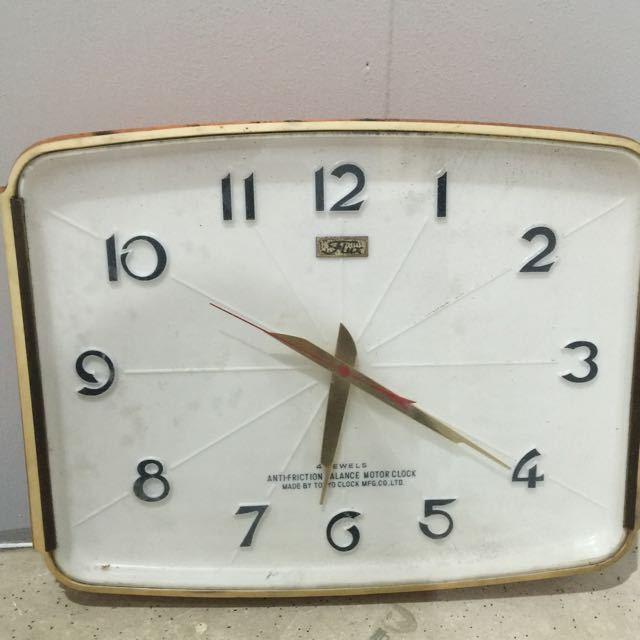 flux brand wall clock square