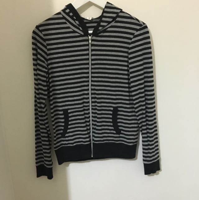 Grey and black striped jacket